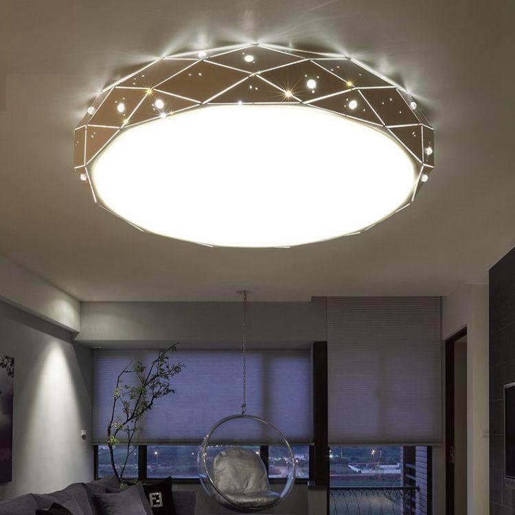 LED吸顶灯浪漫温馨卧室灯简约个性铁艺客厅灯现代房间灯书房灯具
