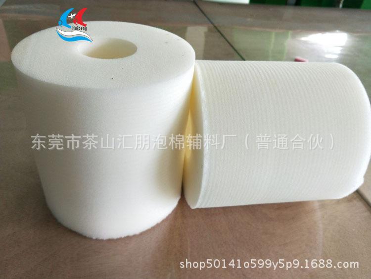 定制批发同心圆柱白色医用海绵清洁弹 临床清洁弹圆柱实芯海绵