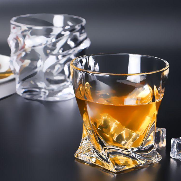 厂家现货批发玻璃威士忌杯高档礼品定制无铅玻璃洋酒杯玻璃杯定制