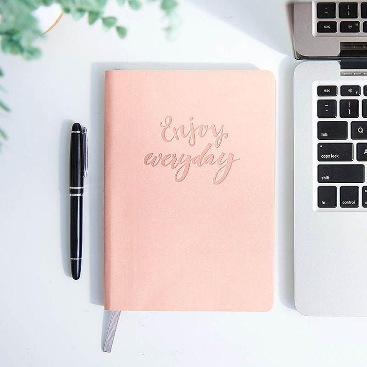 工作日记原创简约软皮面周历日记本年历每周记录本小清新计划本