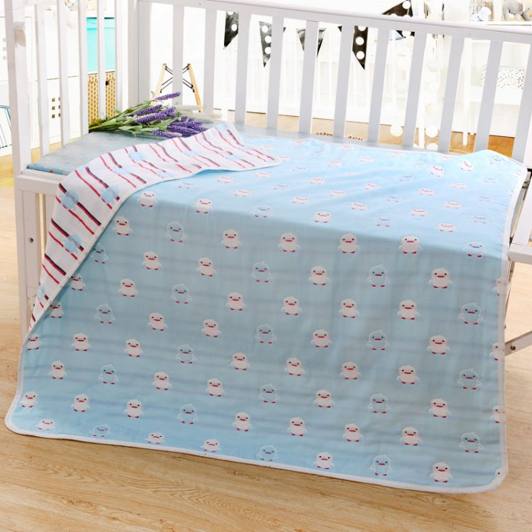 厂商直销六层纱布小鸭子童被全棉儿童毛巾被儿童抱被盖毯童被