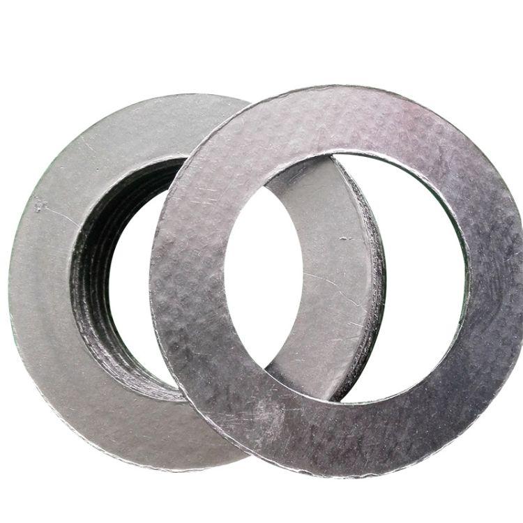 高强石墨复合垫 柔性石墨复合垫片 金属缠绕石墨复合垫专业定做