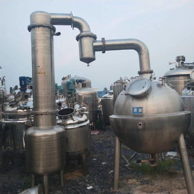 处理二手蒸发器,二手2吨三效浓缩蒸发器,二手2000L双效蒸发器