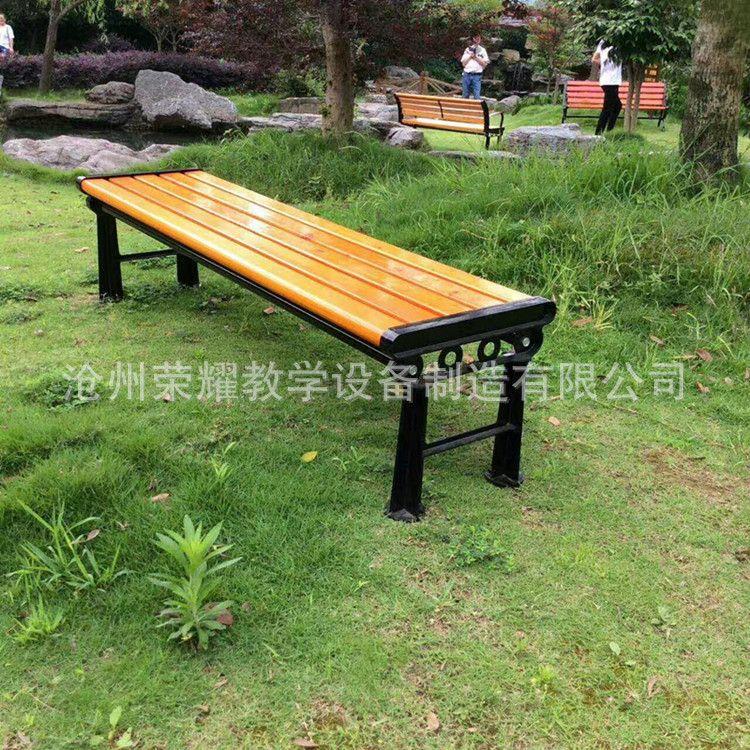 厂家直销户外休息椅长椅公园椅园林座椅 实木铸铁长椅塑木椅