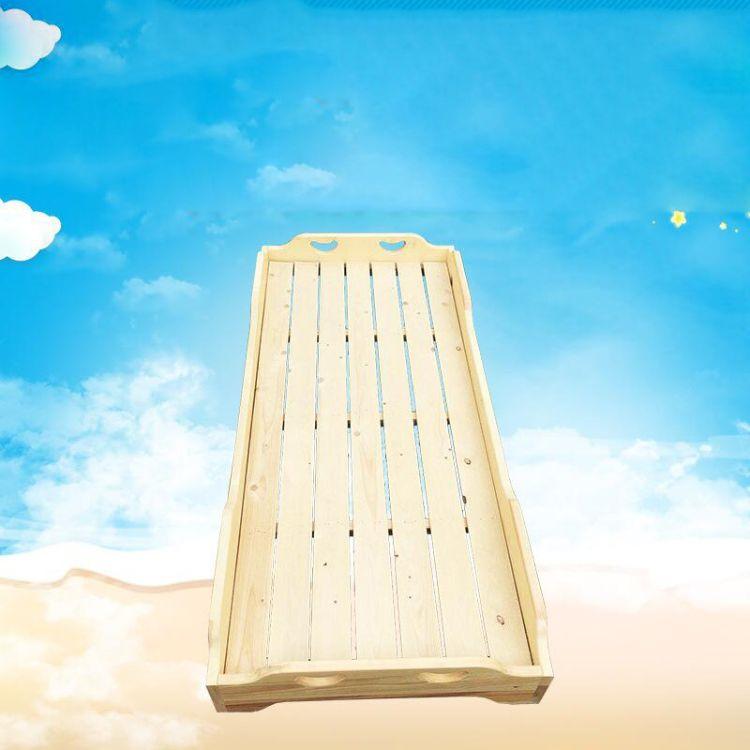 幼儿园樟子松实木专用床儿童木质床幼儿园午睡床儿童婴儿床无拼接