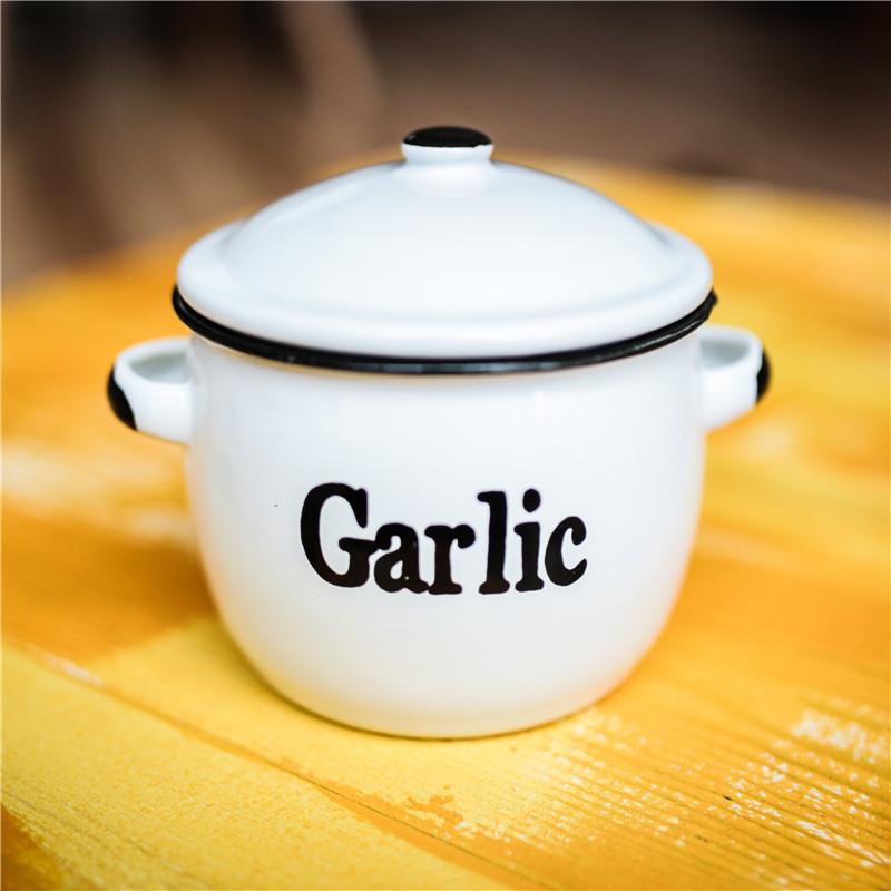 正品现货 德国DEPOT 生姜蒜头镂空搪瓷罐家用厨房用品透气储物罐