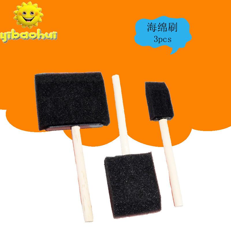 儿童绘画海绵刷 DIY益智儿童玩具滚筒印章海绵刷厂家直销量大优惠