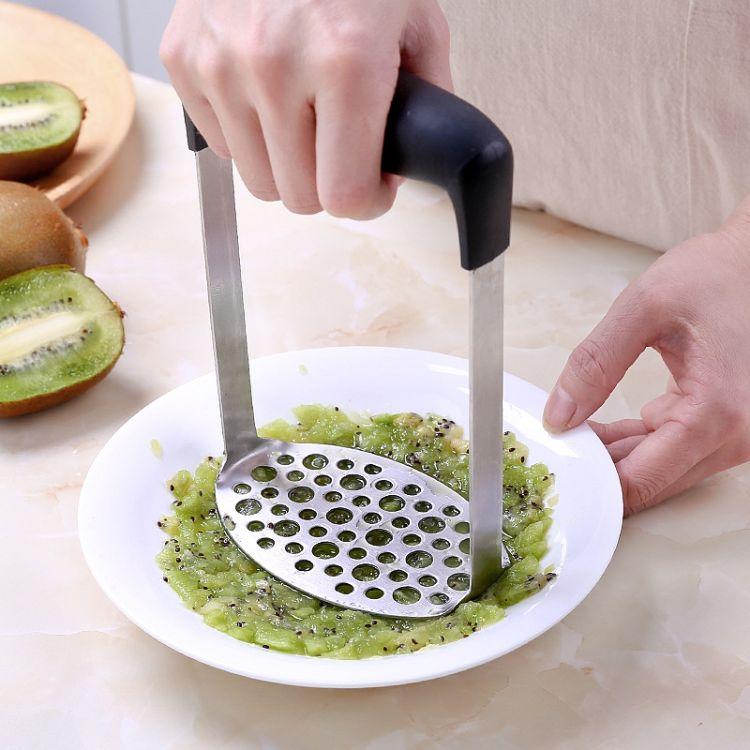不锈钢压薯器多功能压蒜器厨房捣蒜器 手动蒜泥器压泥器厂家批发