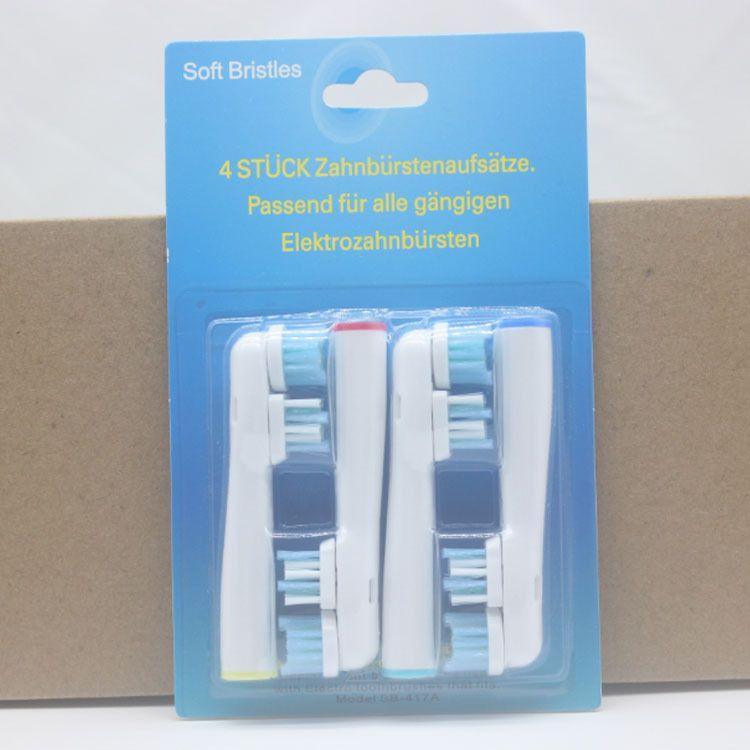 电动牙刷头SB-417A 双头Dual Clean 杜邦刷毛德文包装外贸热销