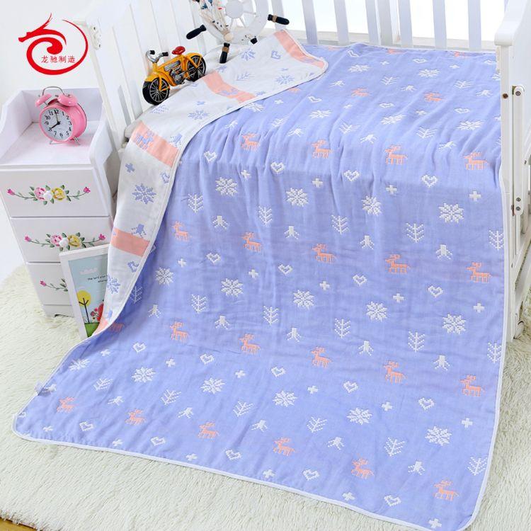 纯棉6六层纱布浴巾110*110cm童被新生儿毛巾被儿童盖毯婴幼儿浴巾