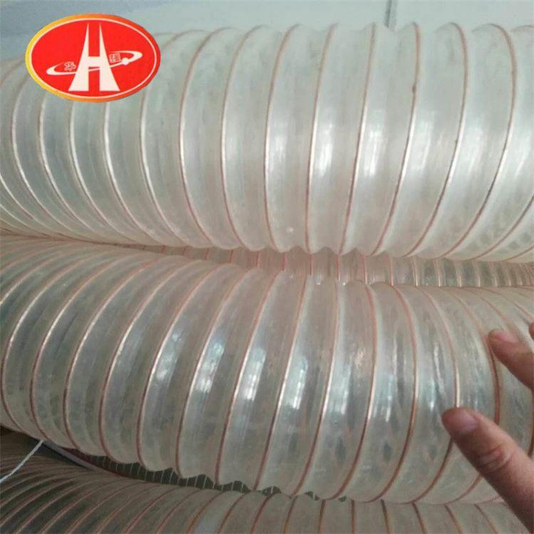 批发pvc耐磨透明钢丝弹簧软管 食品用PVC软管 pvc编织管软管