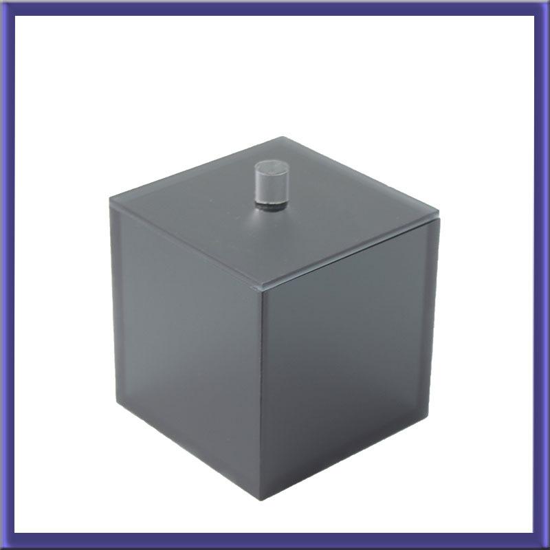 定做黑清砂亚克力茶叶盒亚克力盒子定制亚克力盒子定做亚克力定制