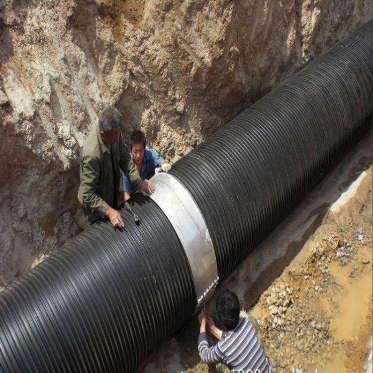 厂家直销直径200HDPE双壁波纹管 PE双壁波纹管 HDPE双壁排污管等