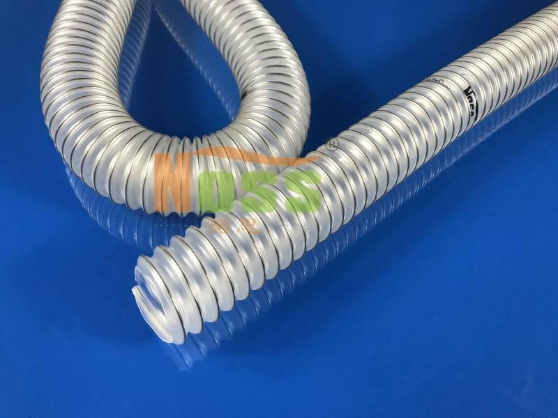 带钢丝增强螺旋塑料伸缩管 PVC透明钢丝排风软管 防静电通风管
