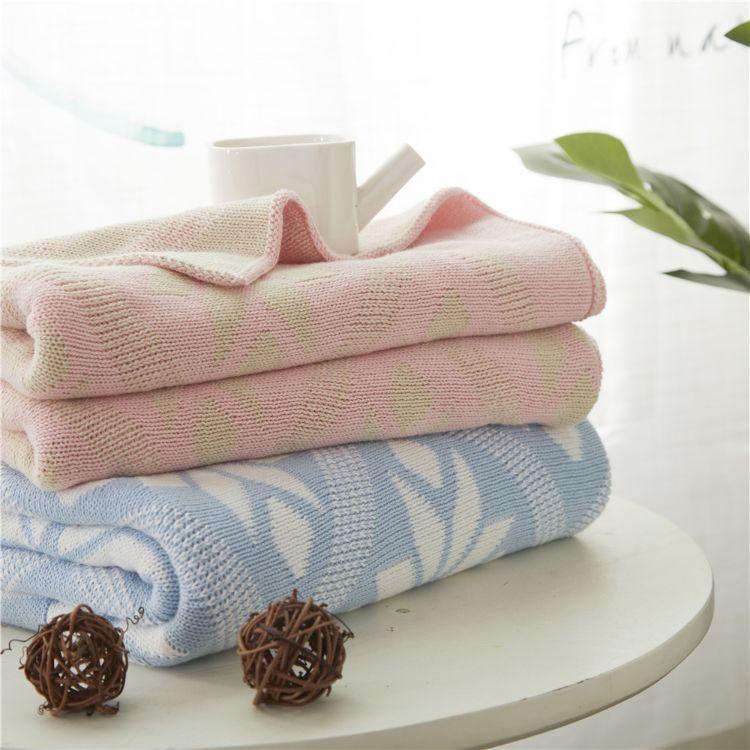 全棉ins同款儿童毯 婴儿针织毛毯儿童盖毯 宝宝抱毯织毯空调毯