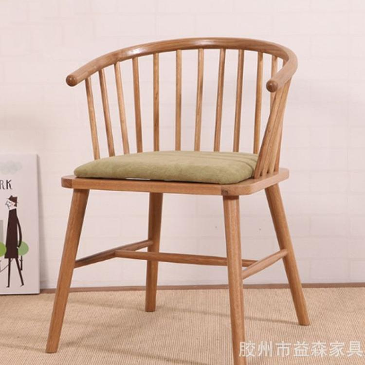 北欧日式实木椅子简约餐桌餐椅组合橡木电脑椅环保/客厅家具