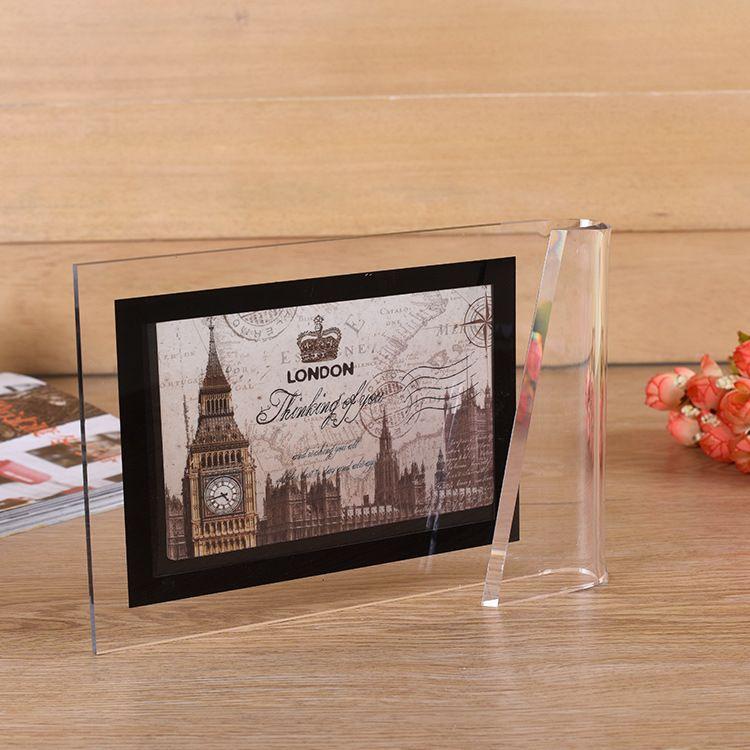 厂家定制亚克力展示架 创意亚克力面板 透明玻璃亚克力相框定制