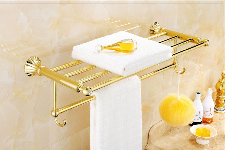 全铜锆金色卫浴五金挂件套装 欧式美式浴室用品