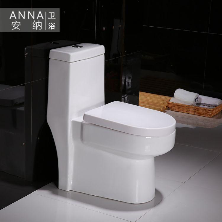 潮州卫浴批发抽水陶瓷马桶工程订单款超漩式连体马桶坐便器