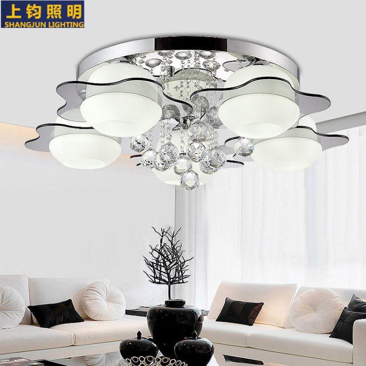 LED吸顶灯客厅灯具水晶吊灯房间卧室餐厅灯饰led餐吊客厅吊灯