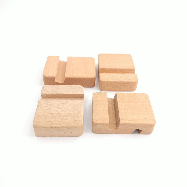 龙门县龙潭镇竹木制品加工定制 榉木手机座 木质工艺品 家具配件