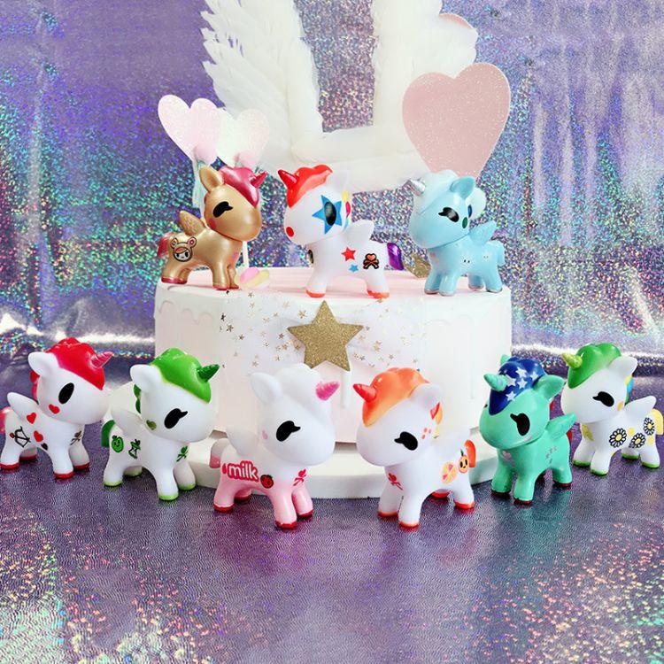 烘焙蛋糕装饰 独角兽蛋糕摆件梦幻小马生日派对装扮用品蛋糕插件
