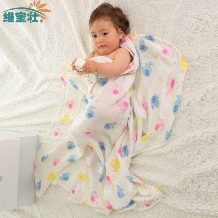 INS爆款纯棉婴儿抱被muslin毯子纱布包被宝宝浴巾纱布包巾襁褓