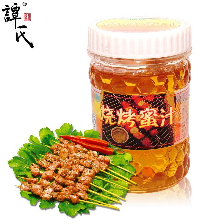 谭氏蜂蜜烧烤调味专用蜂蜜 蜜味糖浆蜜汁蜂蜜批发oem贴牌代工