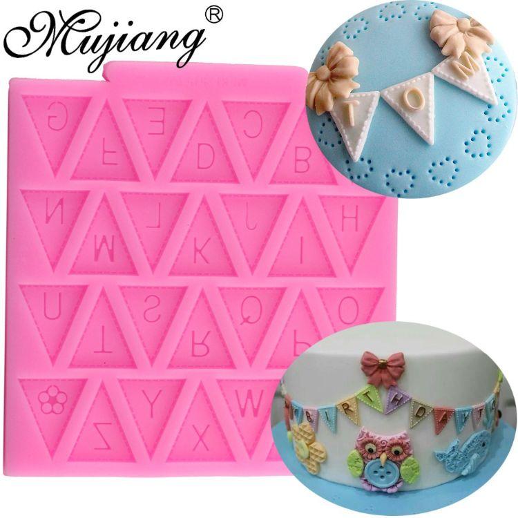 三角形大写字母 高品质硅胶翻糖模 烘焙蛋糕工具 硅胶巧克力模