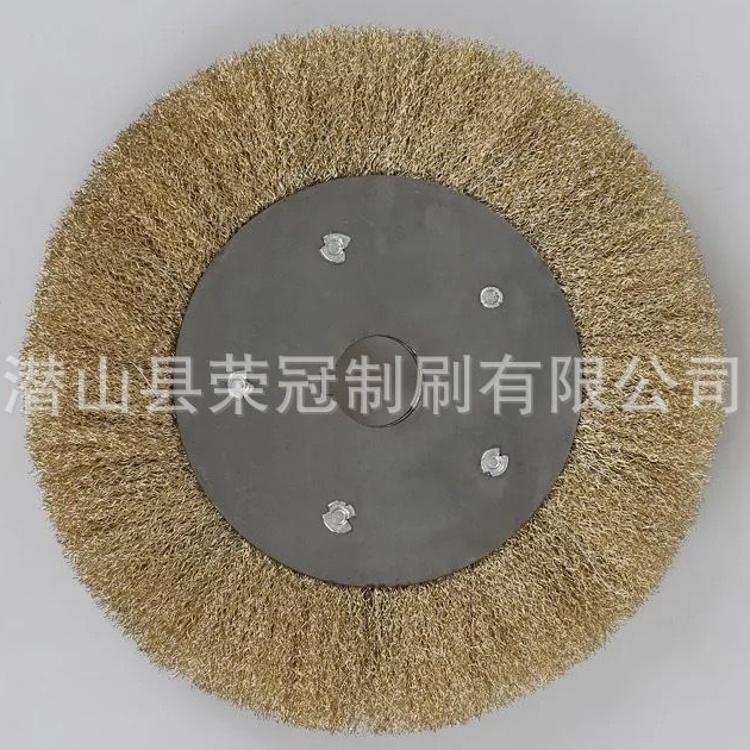 金属除锈钢丝轮金属抛光配件厂家直销平型钢丝轮非标定制钢丝轮