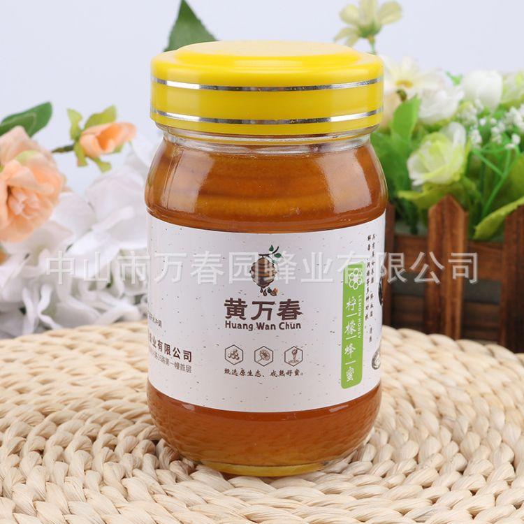 直销蜂蜜柠檬1kg瓶装农家大山蜂蜜 黄万春柠檬蜂蜜批发一件代发