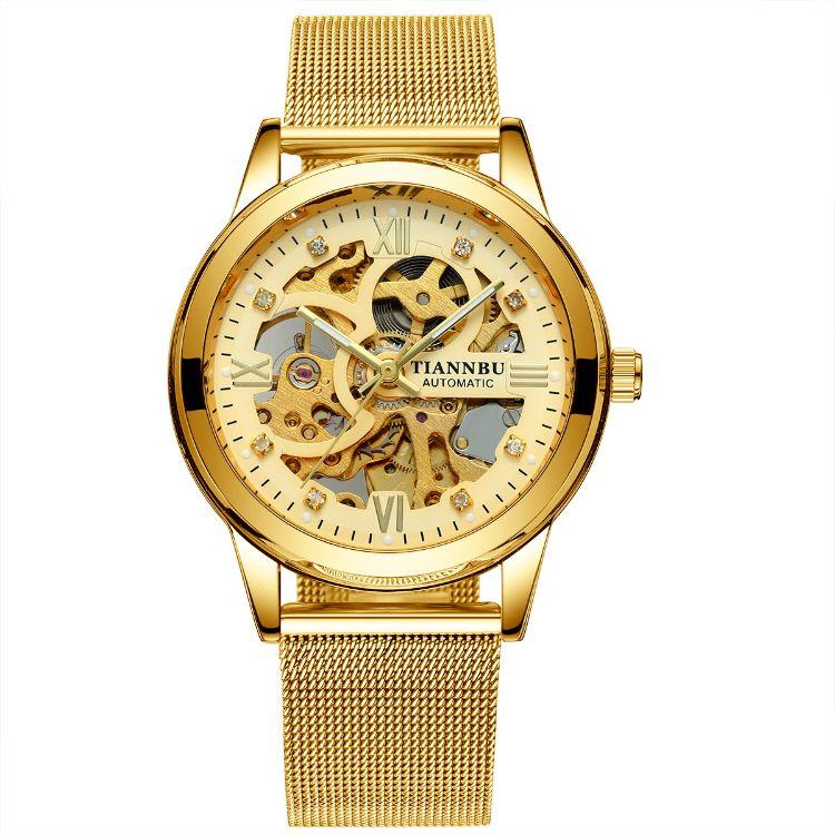 TIANNBU全自動機械手表廠家批發男士防水夜光機械手表一件代發