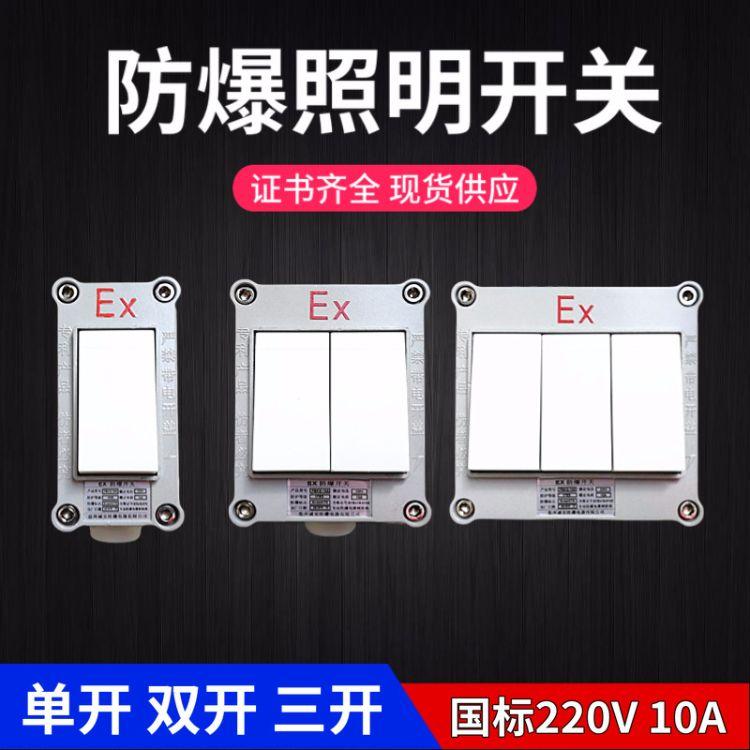 防爆照明开关220V10A国标工业墙壁开关明装暗装户内户外86型