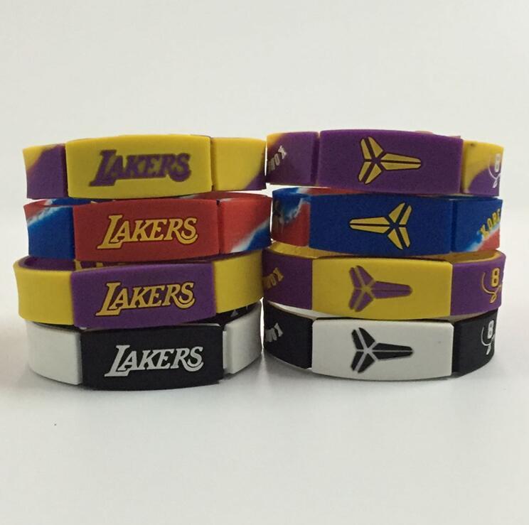 科比退役纪念nba湖人队篮球星手环kobe运动硅胶潮牌能量腕带手环