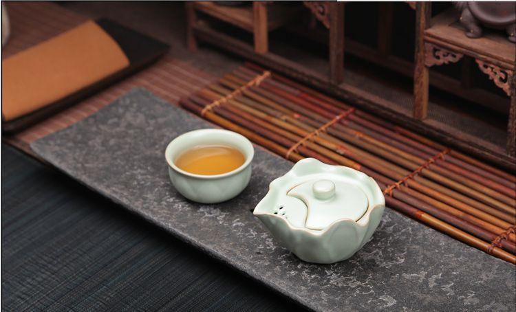 厂家直销茶具批发开片汝窑汝瓷茶具套装旅行茶具便携