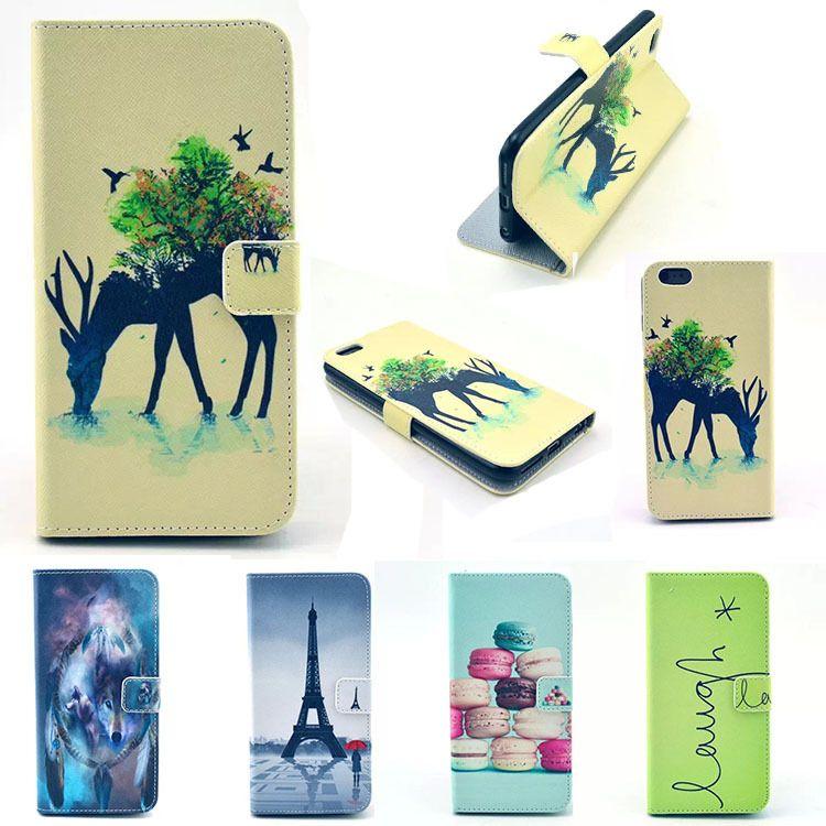新款 苹果iphone 6/6p彩绘手机皮套 带插卡 支架时尚彩绘手机皮套