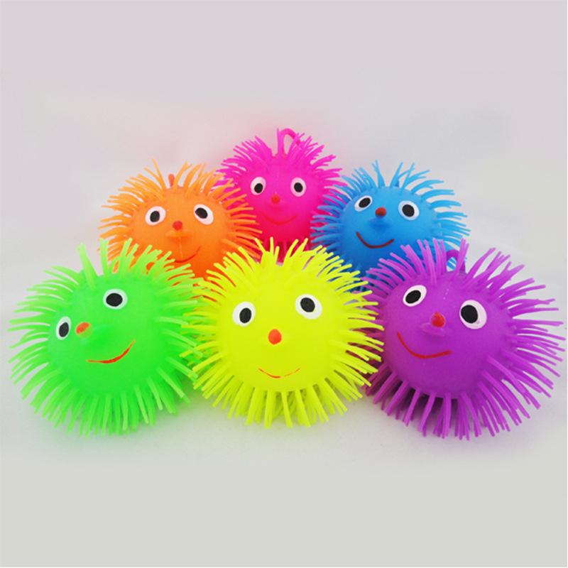60g鼻子毛毛球 弹力电子闪光毛毛球 互动抓握玩具儿童玩具批发