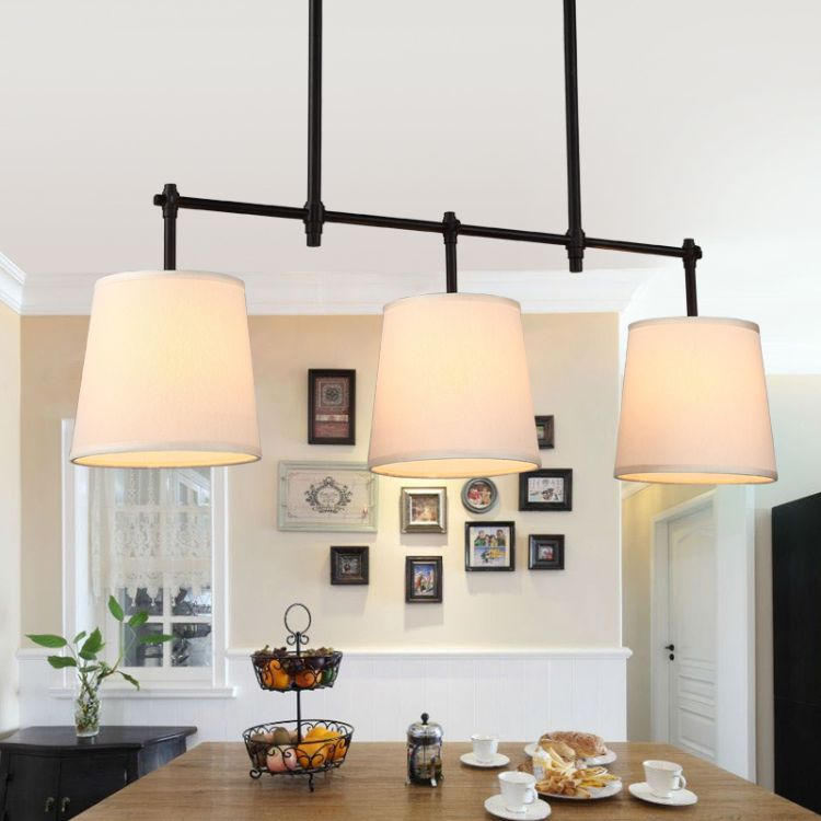 卡伦美式吊灯现代餐厅灯复古铁艺装饰灯具温馨大气餐吊灯