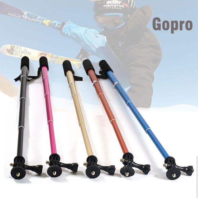Gopro自拍杆铝合金手持可伸缩运动相机自拍支架 摄影器材 工厂