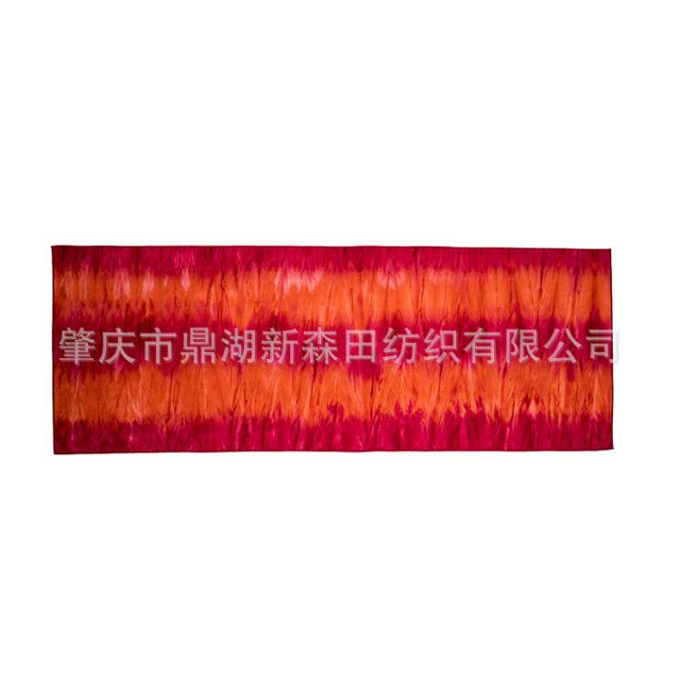 大量批发超细纤维瑜伽铺巾 印花硅胶瑜伽巾 防滑吸汗健身瑜伽巾