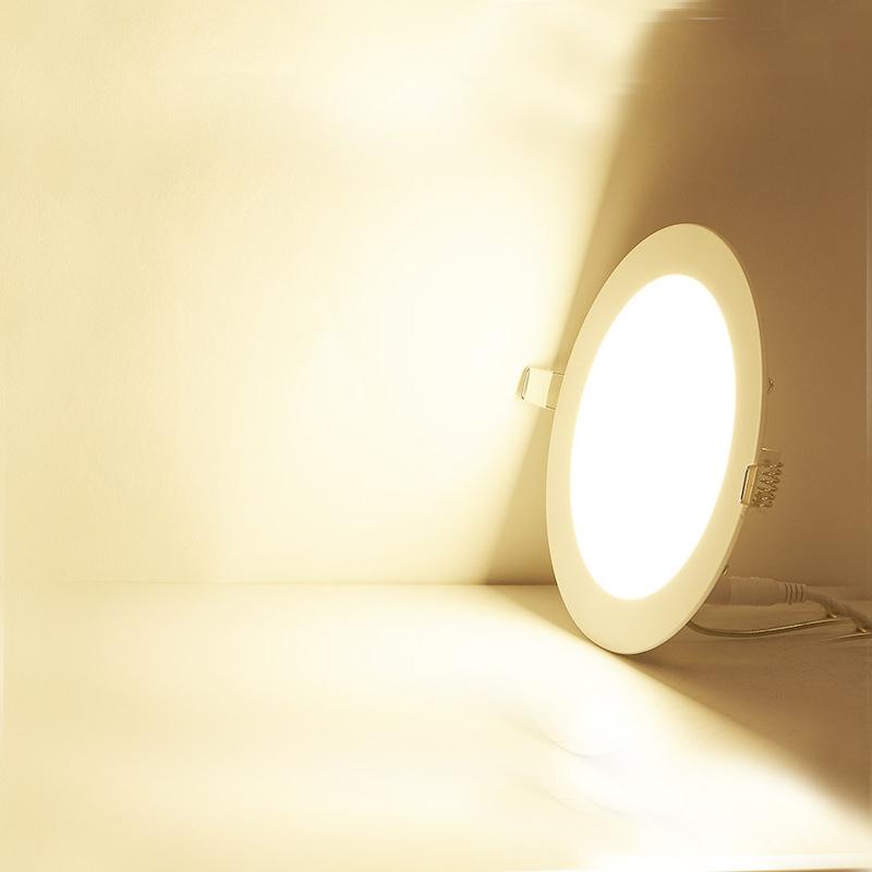 led筒灯 超薄面板灯3w4w6w9w12w15w18w筒灯开孔圆形方型筒灯