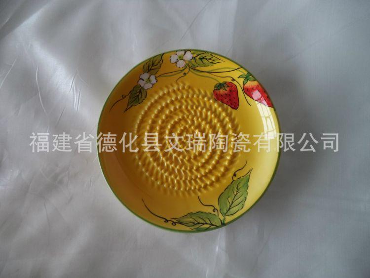 供应陶瓷研磨器手动家用蒜蓉姜丝捣碎品果蔬加工品研磨碟