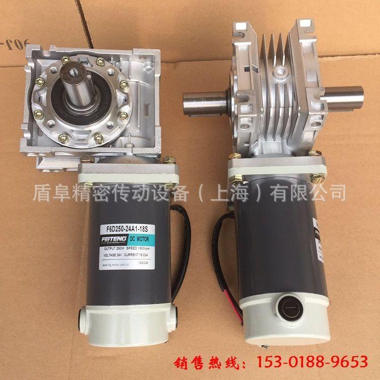 24V-250W直流电机-RV蜗轮蜗杆减速电机