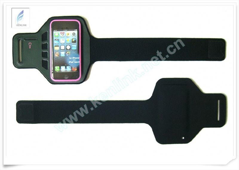 绿色环保 无车线电压工艺潜水料IPHONE5运动臂带 IPHONE5臂带