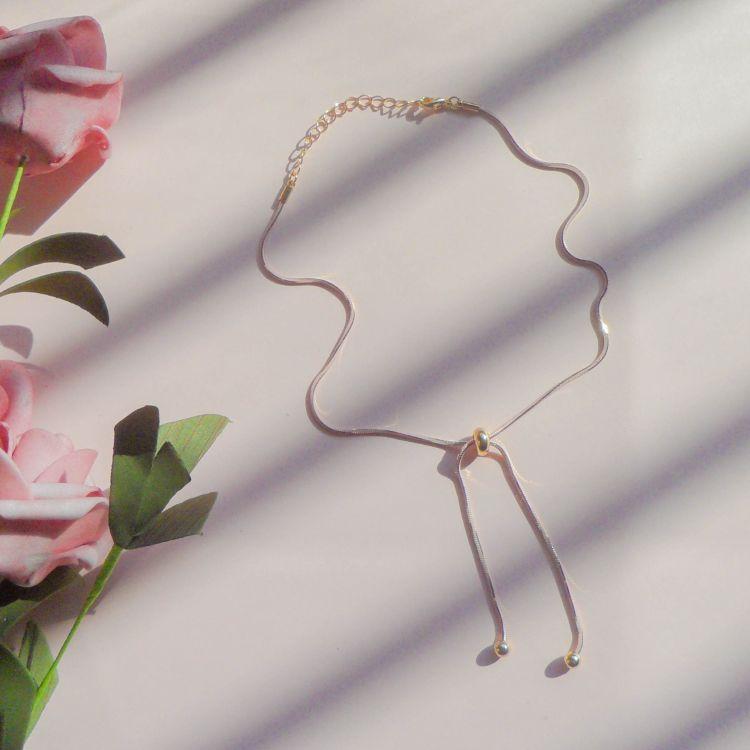 少女心超粉嫩新款简约软妹蛇骨项链甜美choker颈链短款锁骨链颈链