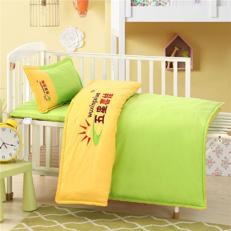 幼儿园被子六件套全棉儿童棉被婴儿床上用品套件纯棉被褥厂家批发