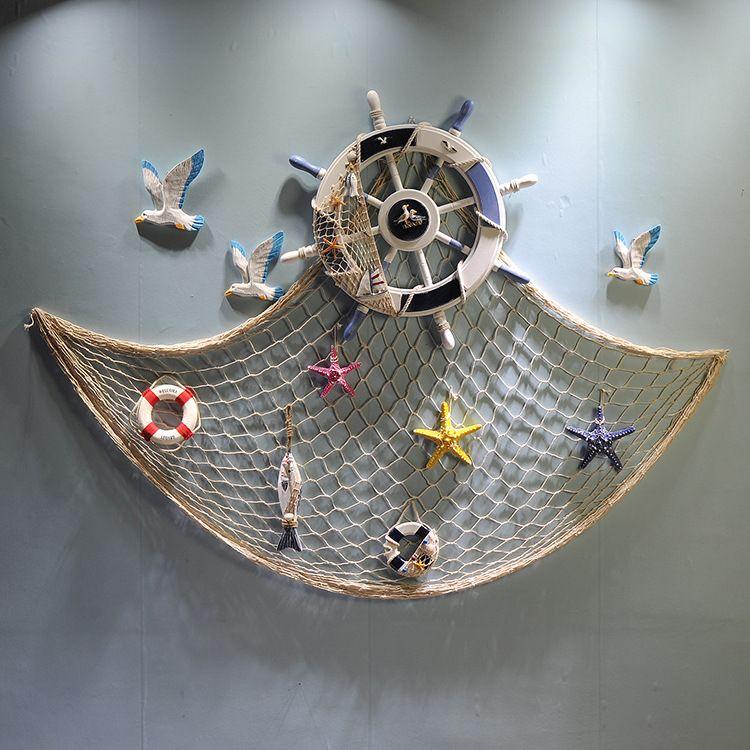 特价促销46CM实木船舵 工艺品 地中海风格 装饰舵手挂件 MA01040