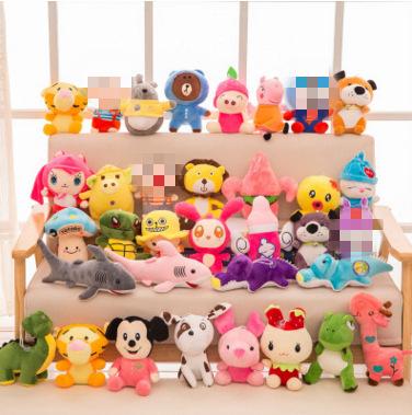 厂家批发毛绒玩具抓机公仔精品20cm娃娃机娃娃婚庆抛洒 抓机娃娃