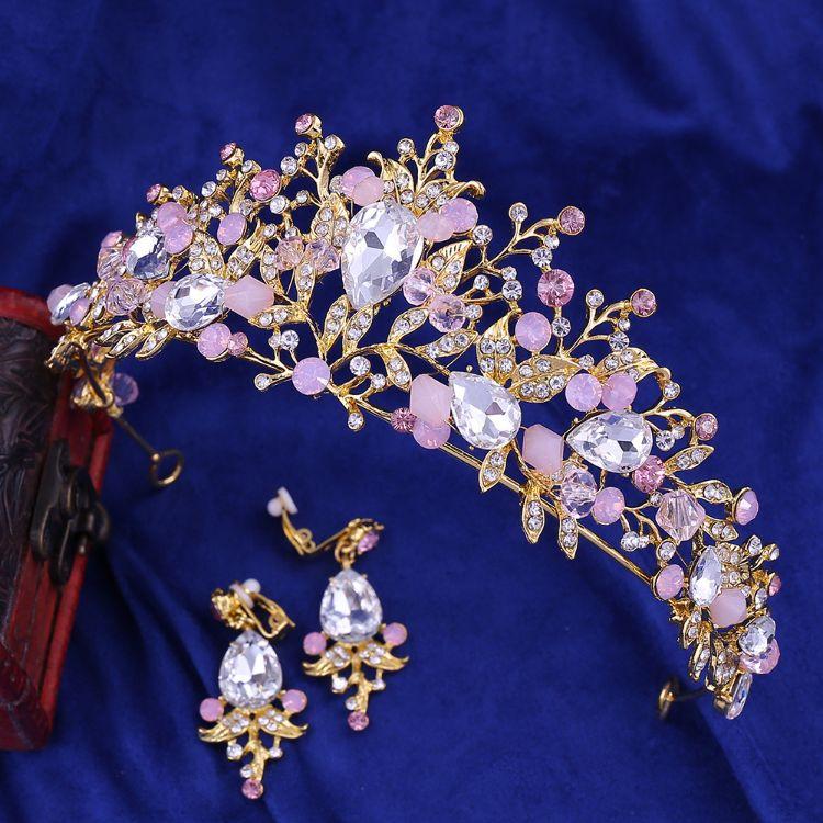 G141新娘皇冠头饰新款水晶皇冠发箍韩版婚礼发饰生日王冠新娘饰品
