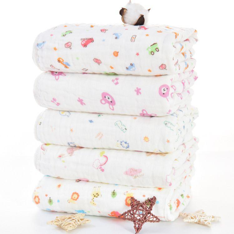 纯棉水洗六层纱布浴巾童被毛巾被吸水儿童宝宝抱被盖毯柔软吸水